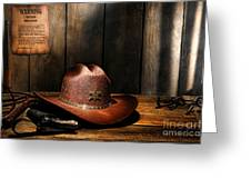 The Sheriff Office Greeting Card by Olivier Le Queinec