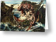 The Shipwreck Of Agrippina Greeting Card