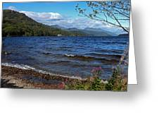 The Shore Of Loch Lomond  Greeting Card