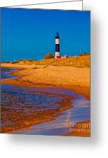 The Shore To Big Sable Greeting Card