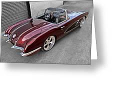 The Show Winner 1958 Corvette Greeting Card