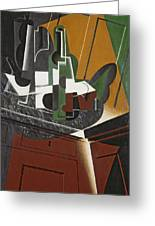 The Sideboard, 1917 Oil On Plywood Greeting Card