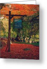 The Sign Of Fall Colors Greeting Card