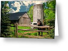 The Silo Horse Greeting Card