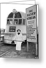 The Silver Streak Train Greeting Card