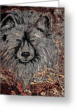 The Silver Wolf 2 Greeting Card