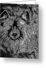 The Silver Wolf Greeting Card