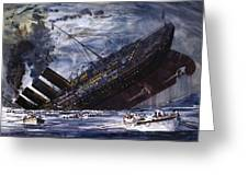 The Sinking Of The Titanic Greeting Card
