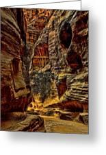 The Siq Path Slot Canyon  Greeting Card