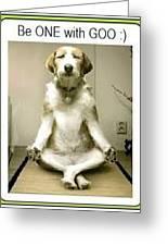 The Sitting Dog Greeting Card