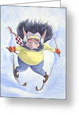 The Skier Greeting Card