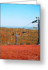 The Skiing Fields In Autumn Greeting Card