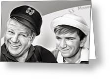 The Skipper And Gilligan Greeting Card