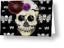 The Skull Is In Love With Cupidos Greeting Card