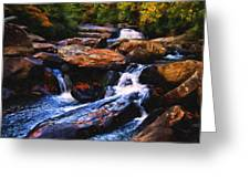 The Skull Waterfall Greeting Card