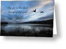 The Sky Greeting Card by Lori Deiter