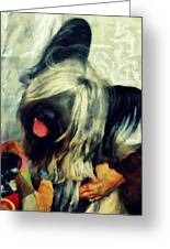 The Skye  Terrier Tilt   Greeting Card