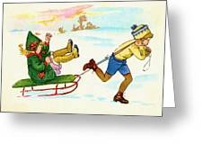 The Sled Greeting Card
