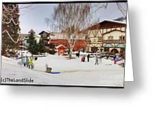 The Sledding Hill Greeting Card