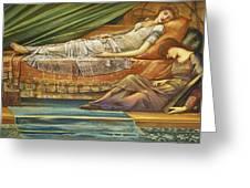 The Sleeping Princess Greeting Card by Sir Edward Burne-Jones