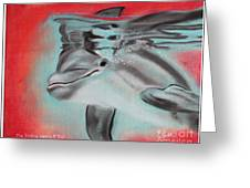 The Smiling Dolphins Of Taiji Greeting Card