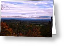 The Smokey Mountains From Hanging Rock State Park Greeting Card