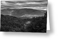 The Smokies In Black And White Greeting Card