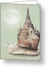 The Snail's Dream Greeting Card