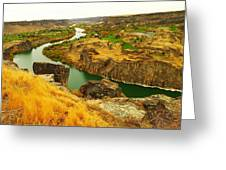 The Snake River  Greeting Card