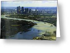 The Snaking River Thames Greeting Card