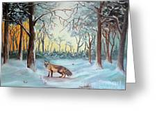 The Sneaky Red Fox Greeting Card