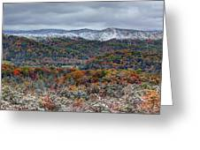 The Snow Began To Fall Greeting Card