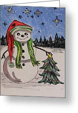 The Snowman's Tree Greeting Card