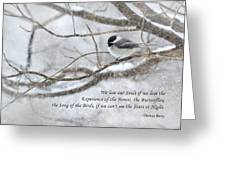 The Song Of The Birds Greeting Card