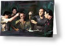 The Sopranos Greeting Card by Viola El