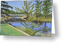 The South Nation River At Spencerville Historic Mill Greeting Card