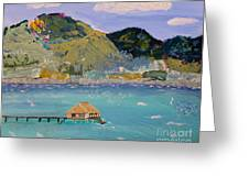 The South Seas Greeting Card by Phyllis Kaltenbach
