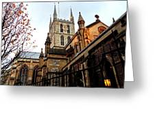 The Southwark Cathedral Church London In Winter Greeting Card