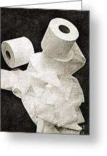 The Spare Rolls 1 - Toilet Paper - Bathroom Design - Restroom - Powder Room Greeting Card