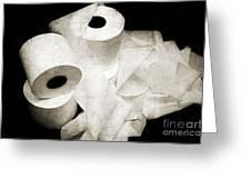 The Spare Rolls 2 - Toilet Paper - Bathroom Design - Restroom - Powder Room Greeting Card