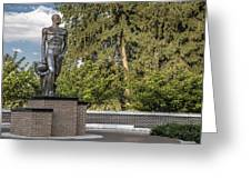 The Spartan Statue At Msu Greeting Card