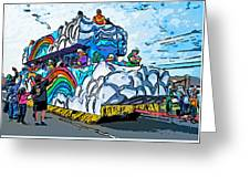 The Spirit Of Mardi Gras Greeting Card by Steve Harrington