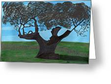 The Split Tree - Bradgate Park Greeting Card by Bav Patel