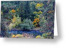 The Spokane River In The Fall Colors Greeting Card
