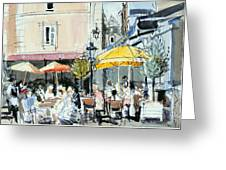 The Square At St. Malo Greeting Card