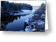 The St. Croix River In December Greeting Card