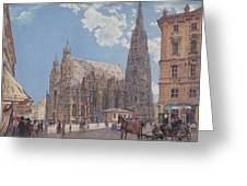 The St Stephen's Cathedral In Vienna Greeting Card