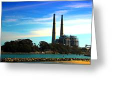 The Stacks Moss Landing Ca Greeting Card