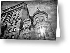 The Stafford Hotel - Grayscale Greeting Card