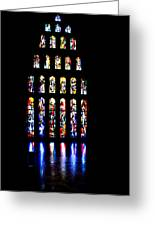 The Stained Glass Windows Of Mary's Church In Nazareth Greeting Card
